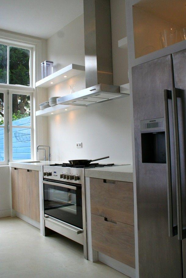 Interieurideeën | Whitewash eiken houten keuken ikea KOAK DESIGN. Door yvonnejagers