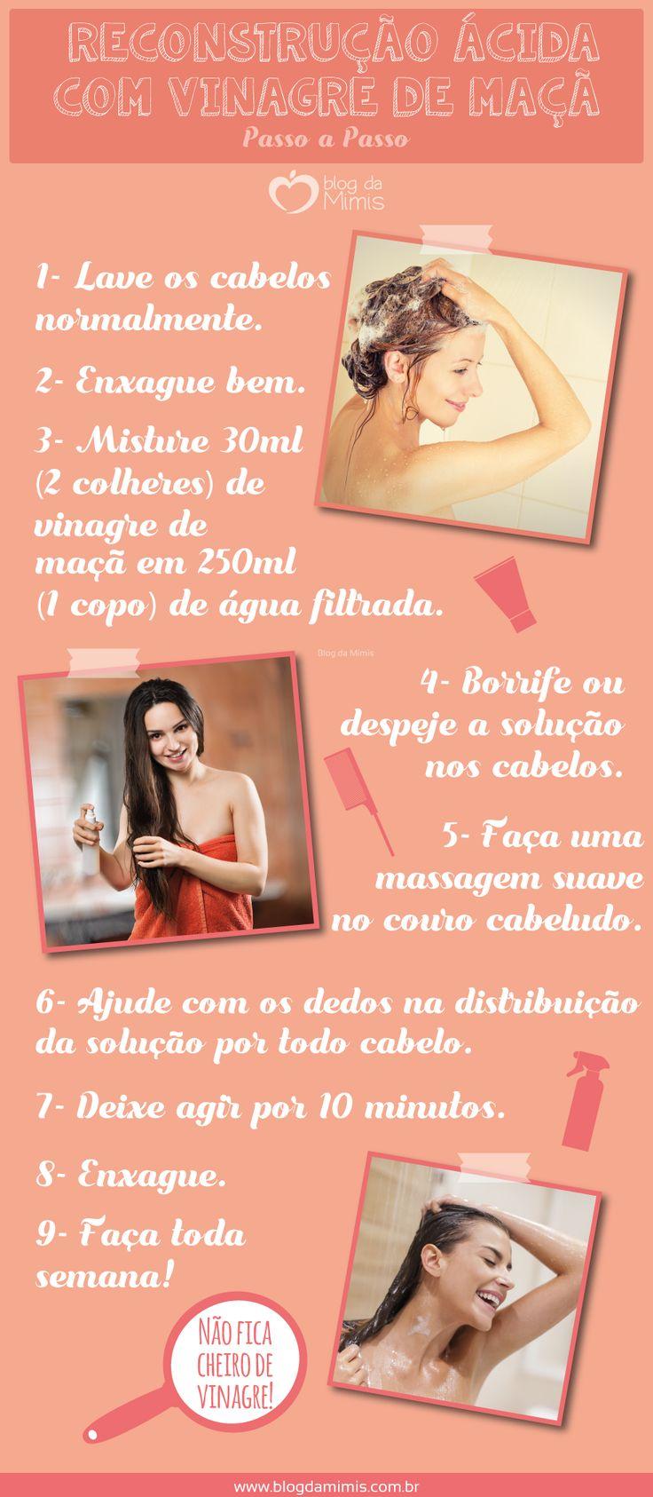 Salva-cabelos: reconstrução ácida com vinagre de maçã - Blog da Mimis #vinagre #maçã #cabelos #reconstrução #ácida #hair