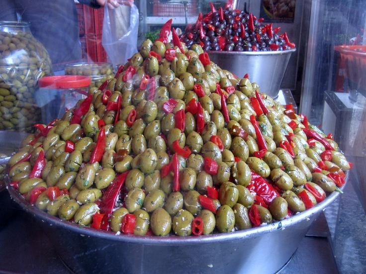 Catania Sicily olives
