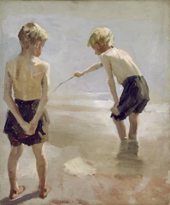 Muchachos en la orilla (1884) ALBERT EDELFELT