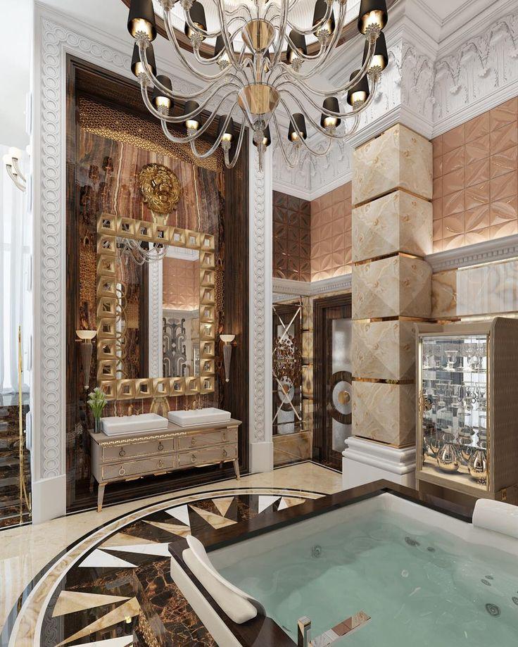 268 отметок «Нравится», 3 комментариев — Дизайн ИНТЕРЬЕРА Архитектура (@wwwsushkowru) в Instagram: «Интерьер ванной комнаты. Справа от умывальника лестница на балкон с выходом на уличную террасу.…»