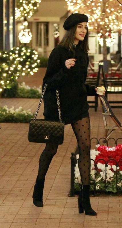 65 Trendy Skirt Black Tights Outfit Classy #outfit