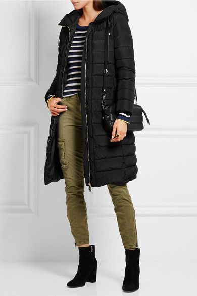 Moncler - Imin Belted Quilted Shell Down Coat - Black - 4