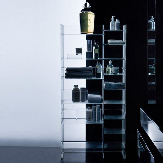 More storage with Sound-Rack Freestanding Bathroom Cabinet - Kartell