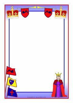 King-themed A4 page borders (SB4528) - SparkleBox