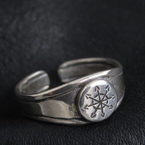 Silver Chaos Star ring. Warhammer 40000. W40K. Chaosphere. Warp. Magic. #Ring