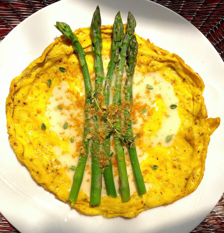Asparagus Omelet with mock Hollendaise Sauce on The Official Site for Carla Hall - Co-Host of ABCs The Chew