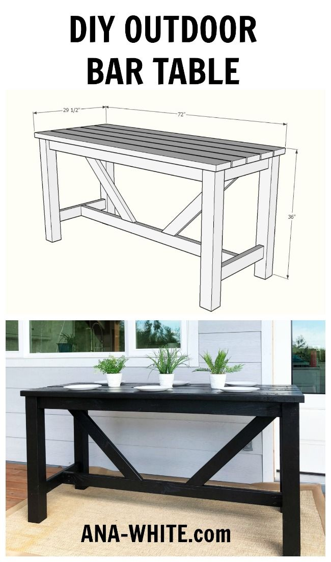 Outdoor Bar Table Outdoor Bar Table Bar Table Diy Diy Outdoor Bar