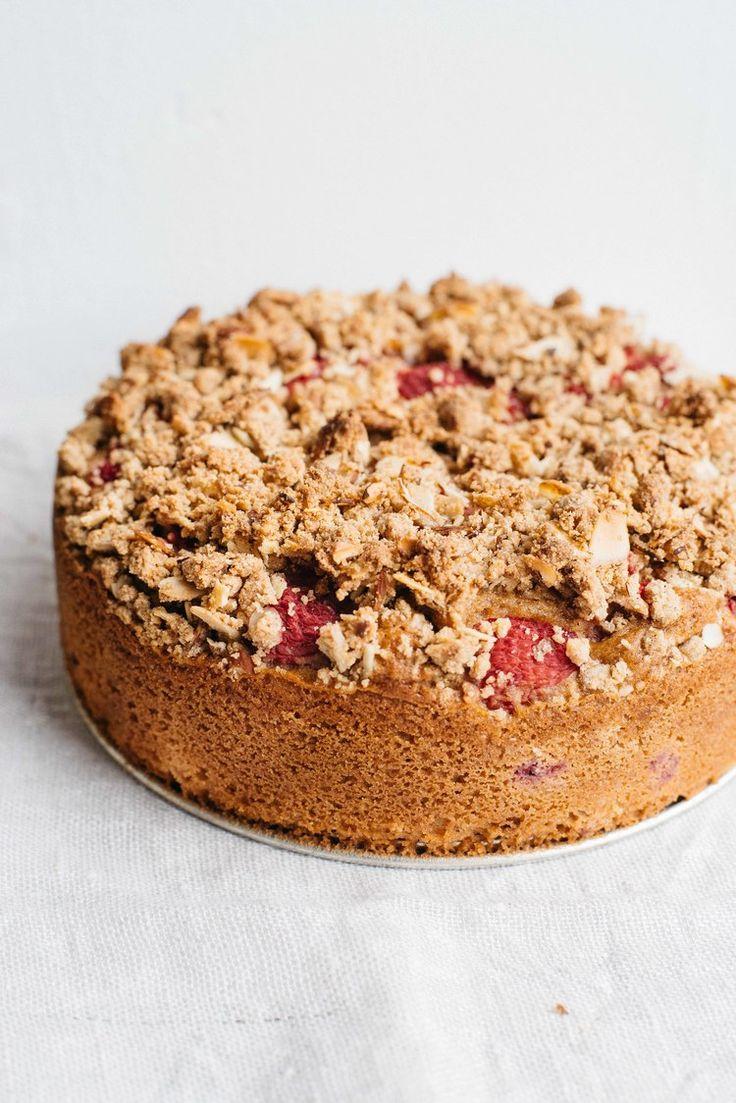 raspberry-currant yogurt crumble cake (gf + df) | dolly and oatmeal