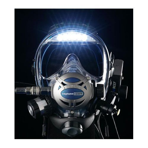 Ocean Reef Neptune Space Diving Full Face Mask with 2nd Stage and Visor Lights OR25005-BK-MED/LG 029152