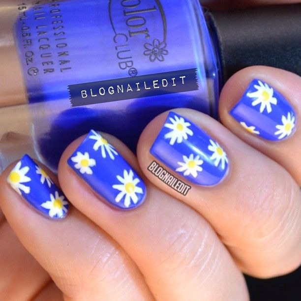 Best 25 daisy nails ideas on pinterest daisy nail art flower daisy nails blognailedit flower nail artmanicuresdaisy prinsesfo Gallery