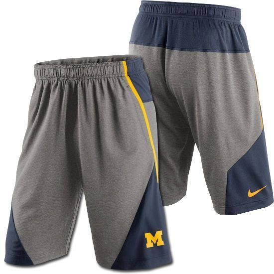 fe98b017c50270 Nike Men s Michigan Wolverines Fly 4.0 Shorts - Heathered Gray Navy Size XL   Nike