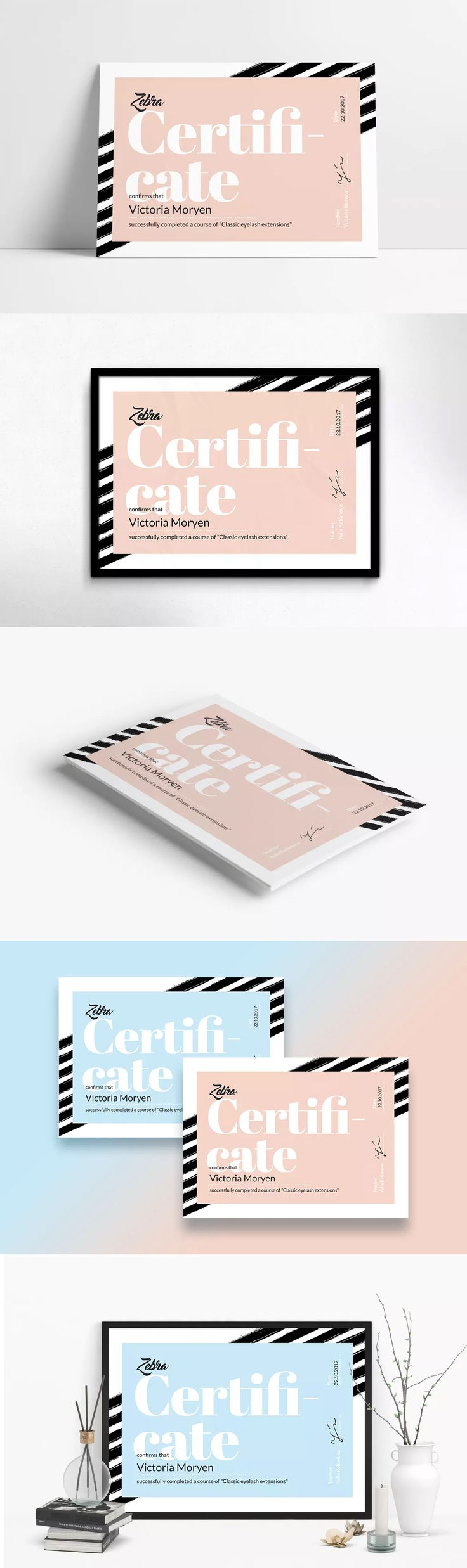 Best 25 certificate design template ideas on pinterest zebra certificate template ai eps a4 xflitez Gallery