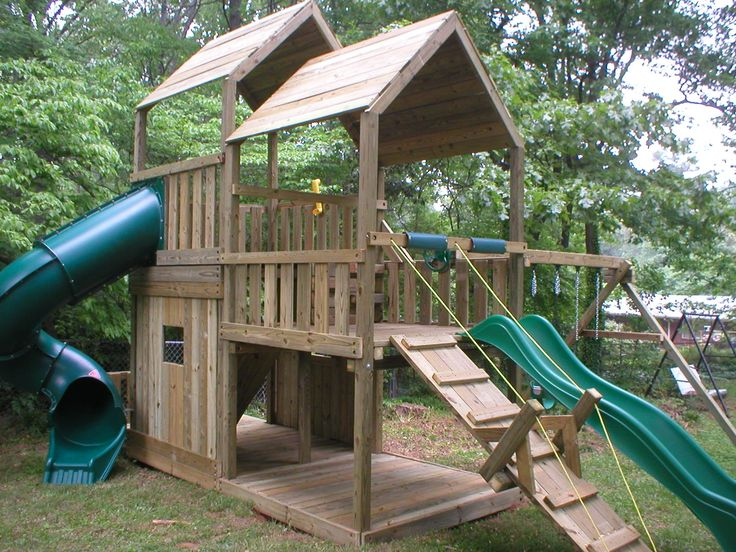 1000 images about beach house playset on pinterest for Kids wooden treehouse