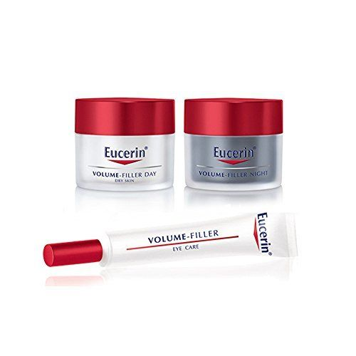 Eucerin Volume Filler SET Night Cream 50ml  Day Care Dry Skin 50ml  Eye Cream 15ml ** Learn more by visiting the image link.