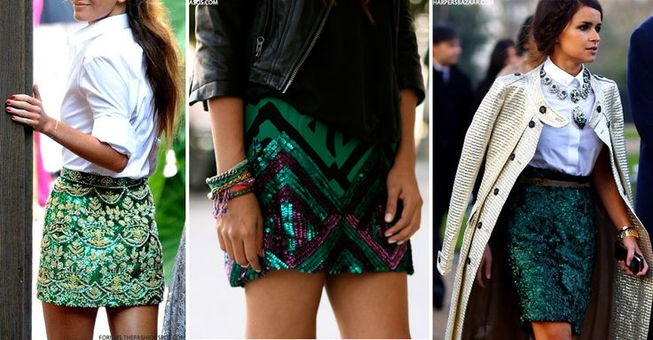 Sequin Skirt On The High Street | sheerluxe.com