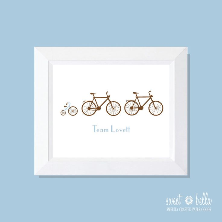 Personalized Print familiale. Impression de mur. Famille Print. Art pariétal. Impression de vélo. Famille Art - famille de vélos Print par SweetBellaStationery sur Etsy https://www.etsy.com/fr/listing/116512720/personalized-print-familiale-impression