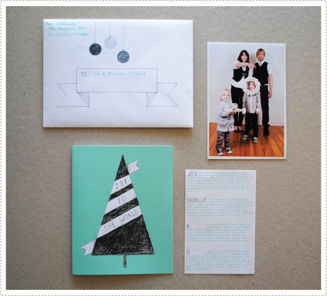 Adorable family holiday card by Merrilee. Inspiration for next year.