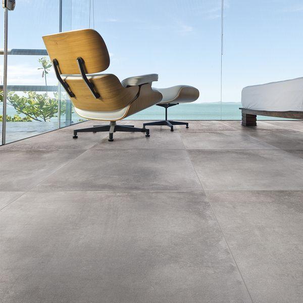 Porcelanato Externo Esmaltado Acetinado Borda Reta 60x60cm Nord Cement Portobello Leroy Merlin Eames Lounge Eames Lounge Chair Lounge Chair