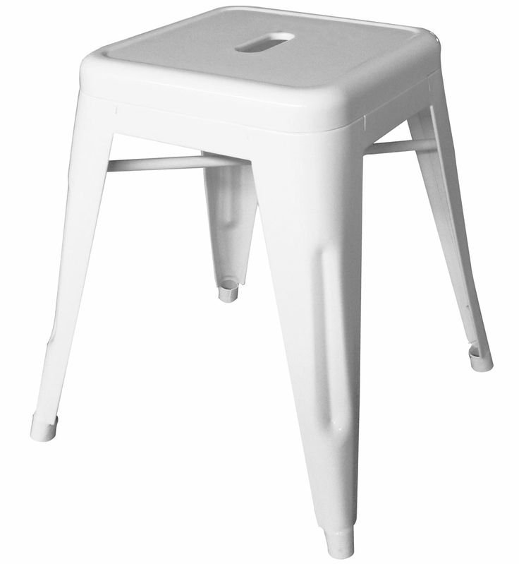 46cm White Replica Xavier Pauchard Tolix Stool $57 Each!!  http://www.stoolsandchairs.com.au/replica-tolix-stool-46cm-white-set-of-4/  #white #xavier #pauchard #tolix #stool