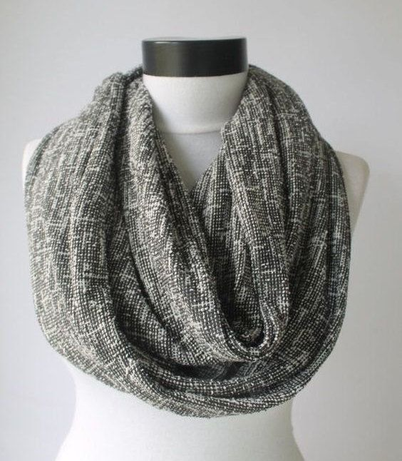 gray mesh scarflong scarfscarvesinfinity by starshopboutique