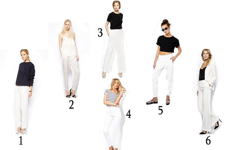 Pantaloni bianchi: ecco tutti i modelli di tendenza (per tutte le misure e per tutte le taglie). 36 idee per gli abbinamenti e 7 modelli top da acquistare!