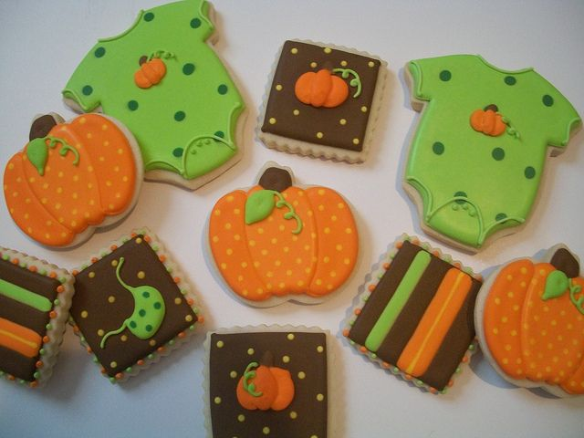 Fall Baby Shower Cookies by Brenda's Cakes - Ohio, via Flickr