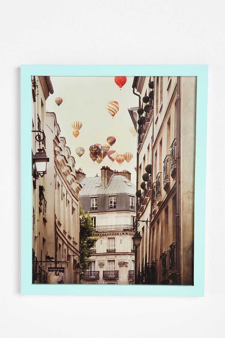 Irene Suchocki Balloons Over Paris Framed Print  #UrbanOutfitters: Wall Art, Hot Air Balloon, Irene Suchocki, Urban Outfitters, Frames Prints, Suchocki Balloon, Paris Frames, Framed Prints, Paris Apartment Bedrooms