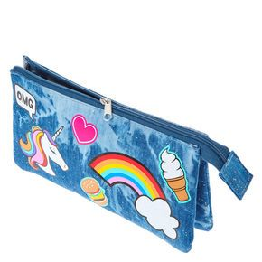 Denim Patch Pencil Case,