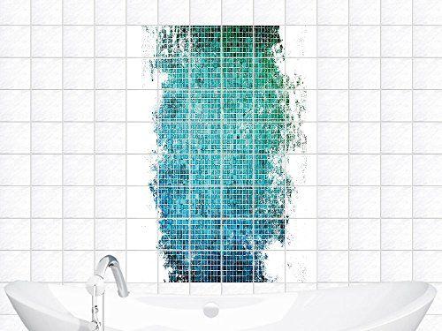 Fliesensticker Sticker Fliesenaufkleber Für Badezimmer Mosaik Muster Fliese  (BxH))