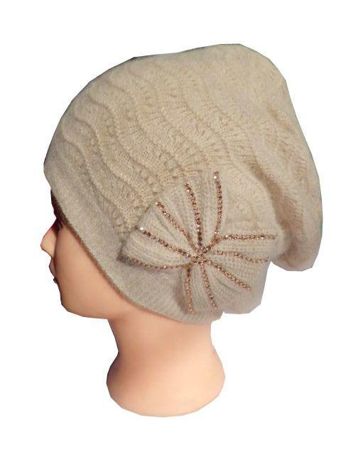 New Handmade Warm Soft Yellow Rabbit Wool Women Winter Adjustable Beanie   #Handmade #Beanie