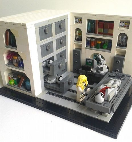 Area 51 Autopsy room: A LEGO® creation by Leons_rotten_corner . : MOCpages.com