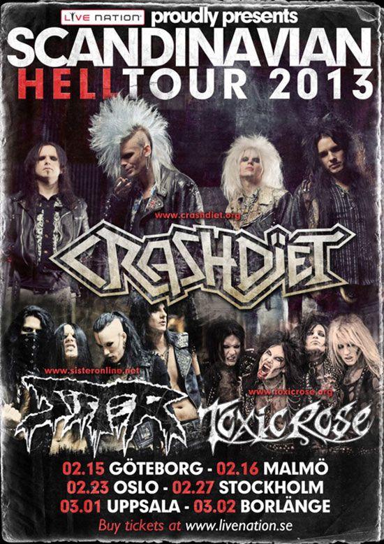 Swedish Punk, Sleaze and Metal bastards SISTER support CRASHDIET also on the Scandinavian leg of their European tour