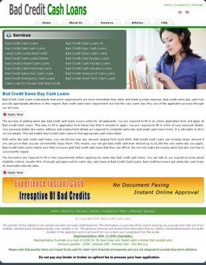 If you have a bad credit and need cash for some financial emergencies? Don't take the stress about your credit status. There are many people with bad credit rating need cash quickly, we at Bad credit same day cash loans  give you emergency financial help without any credit check and document faxing.