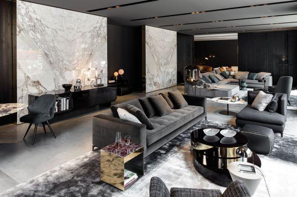 minotti flagshipstore m nchen jetzt auf ad interiores. Black Bedroom Furniture Sets. Home Design Ideas