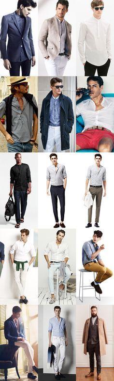 Men's 2014 Spring/Summer Micro-Trend: Band/Grandad Collar Shirts Lookbook Inspiration