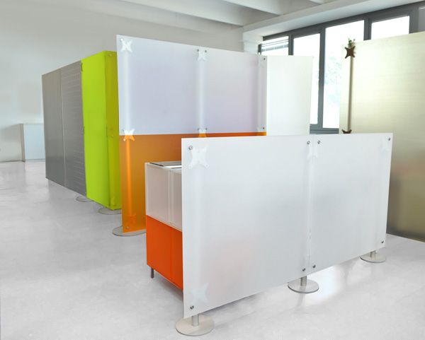 Low Office Screen Featuring A Contemporary Design Panels