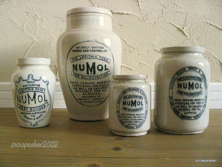 NUMOL antique jar