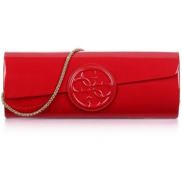 High Shine Clutch Bag (695 UAH) ❤ liked on Polyvore featuring bags, handbags, clutches, purses, red handbags, red hand bags, red clutches, handbags purses and red purse