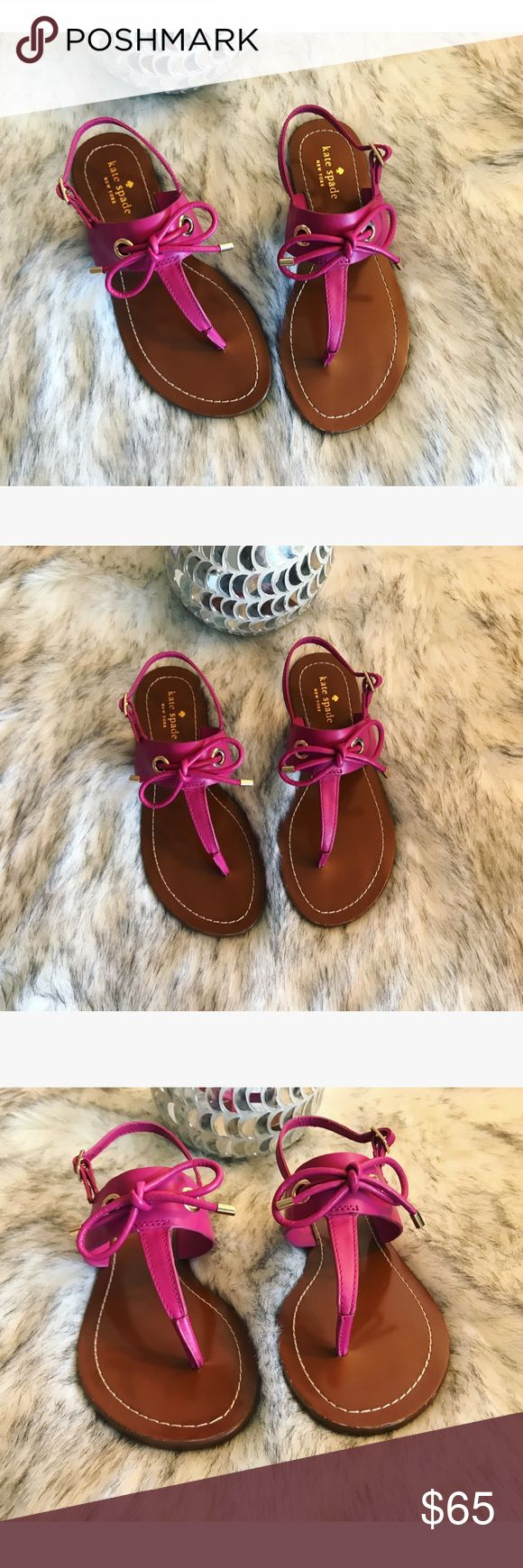 FINAL PRICE 🎀 Gorgeous Kate ♠️ Spade sandals 🎀 💖 Gorgeous Kate Spade sandals in hot pink and size 6.5, new never worn 💖 kate spade Shoes Sandals