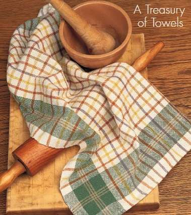 Anything But Plain Towel Kit No two of these four towels need be woven the same!  We've given you enough natural plus eight great earthtone colors to weave to your hearts delight using our best selling Aurora Earth8/2 100% unmercerized cotton.