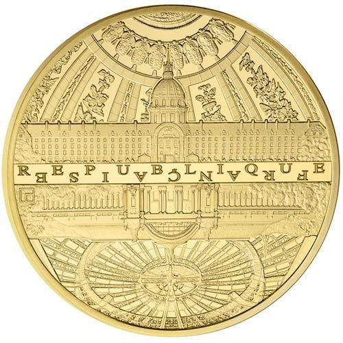 Francia 5 euros 2015 UNESCO. Invalidos y Gran Palacio. moneda de Oro