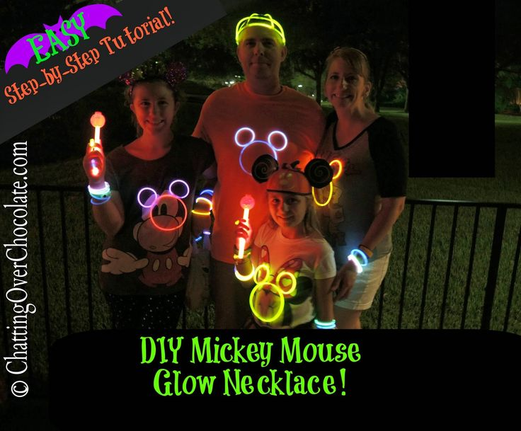 Chatting Over Chocolate: DIY Mickey Mouse Glow Necklaces!