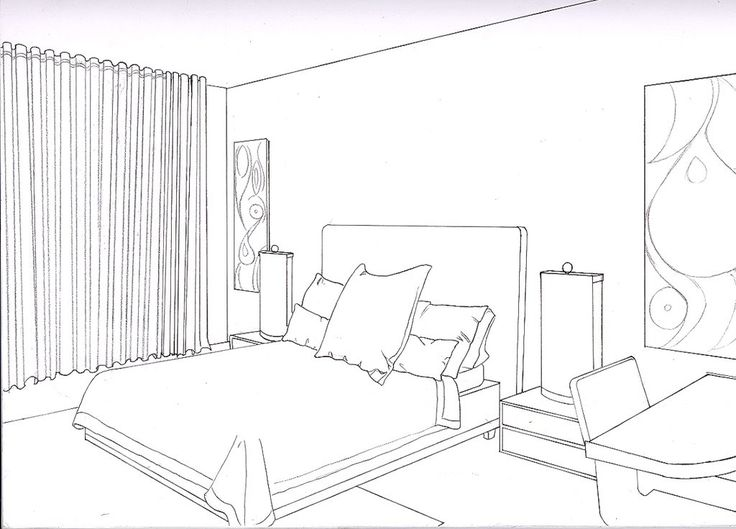 36 best perspective drawings bedroom images on pinterest for 3d bedroom drawing