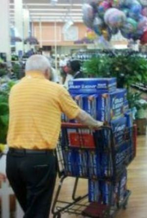 Just Getting A Few Cases Of Bud Light Beer At Walmart   WTF Shopping Cart |  People Of Walmart | Pinterest | Bud Light Beer, Light Beer And Bud Light.