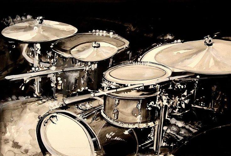 Drum Set Painting Music Pinterest Drums Rock Roll