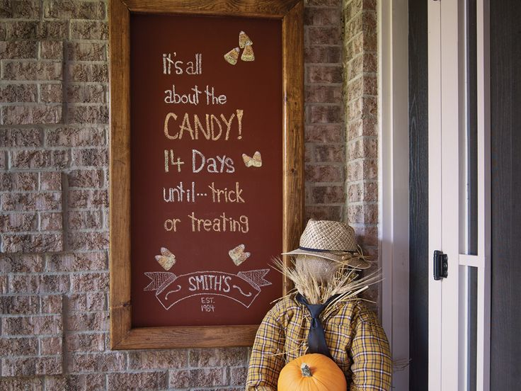 Increase your curb appeal by creating a #chalkboard with #BeautiTone paint. Greet guests and passersby with messages that celebrate seasons, holidays and special milestones.