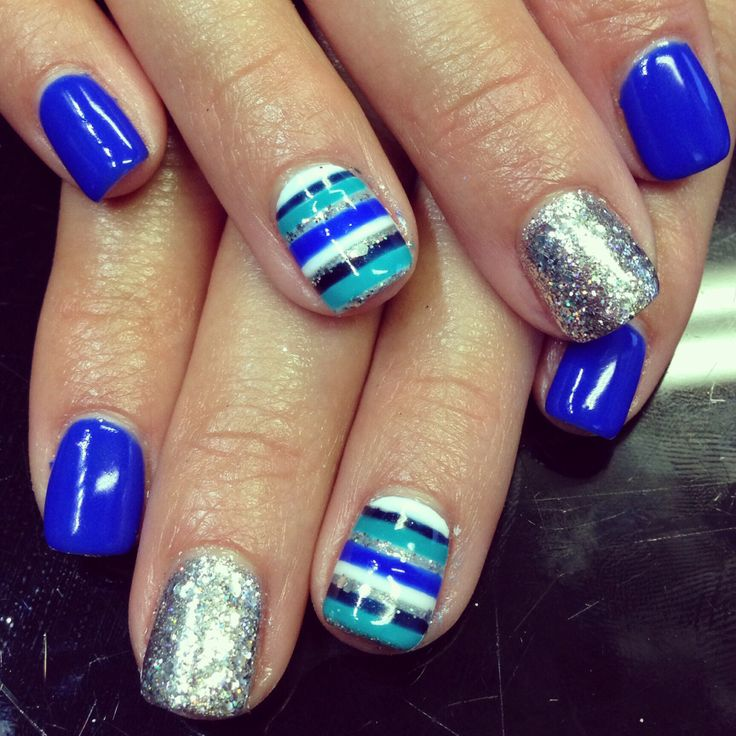 Nails nailart design shellac gel gelish stripes