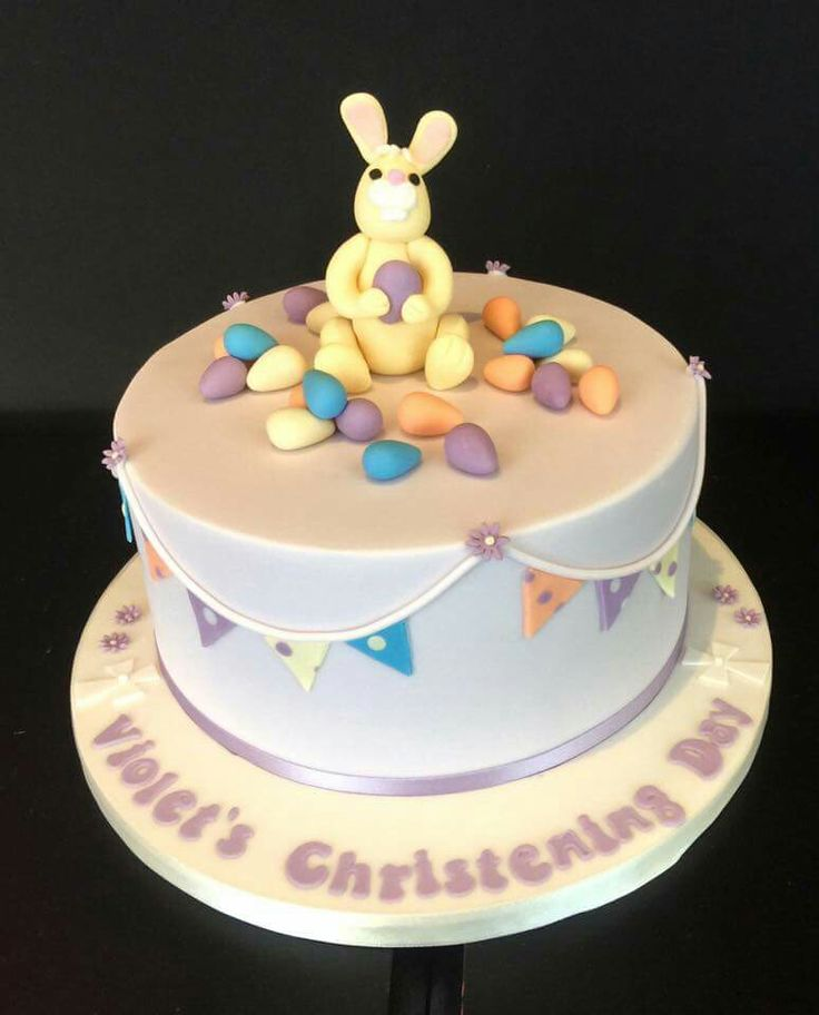 This christening cake was just perfect for Easter Sunday