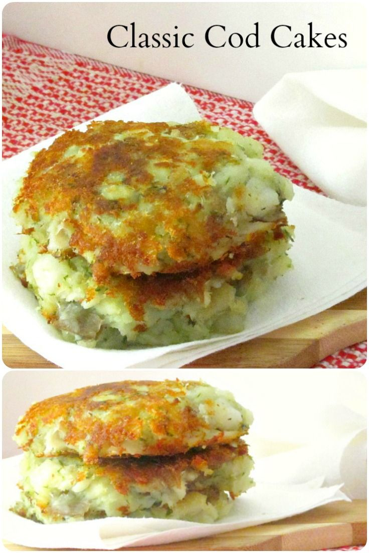 Make these classic cod cakes - a simple, delicious traditional New England treat!